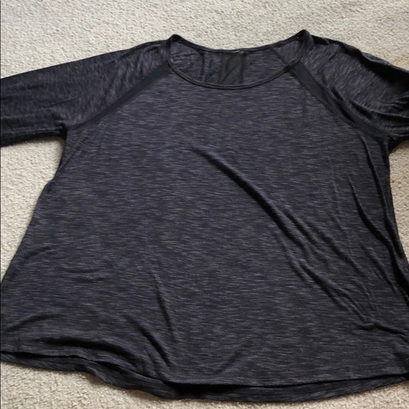 unknown Tops - Long sleeve black with sheer areas 1XL GUC
